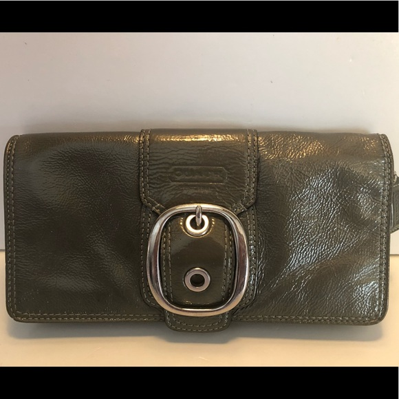 Coach Handbags - Coach Patent Leather Wallet Buckle